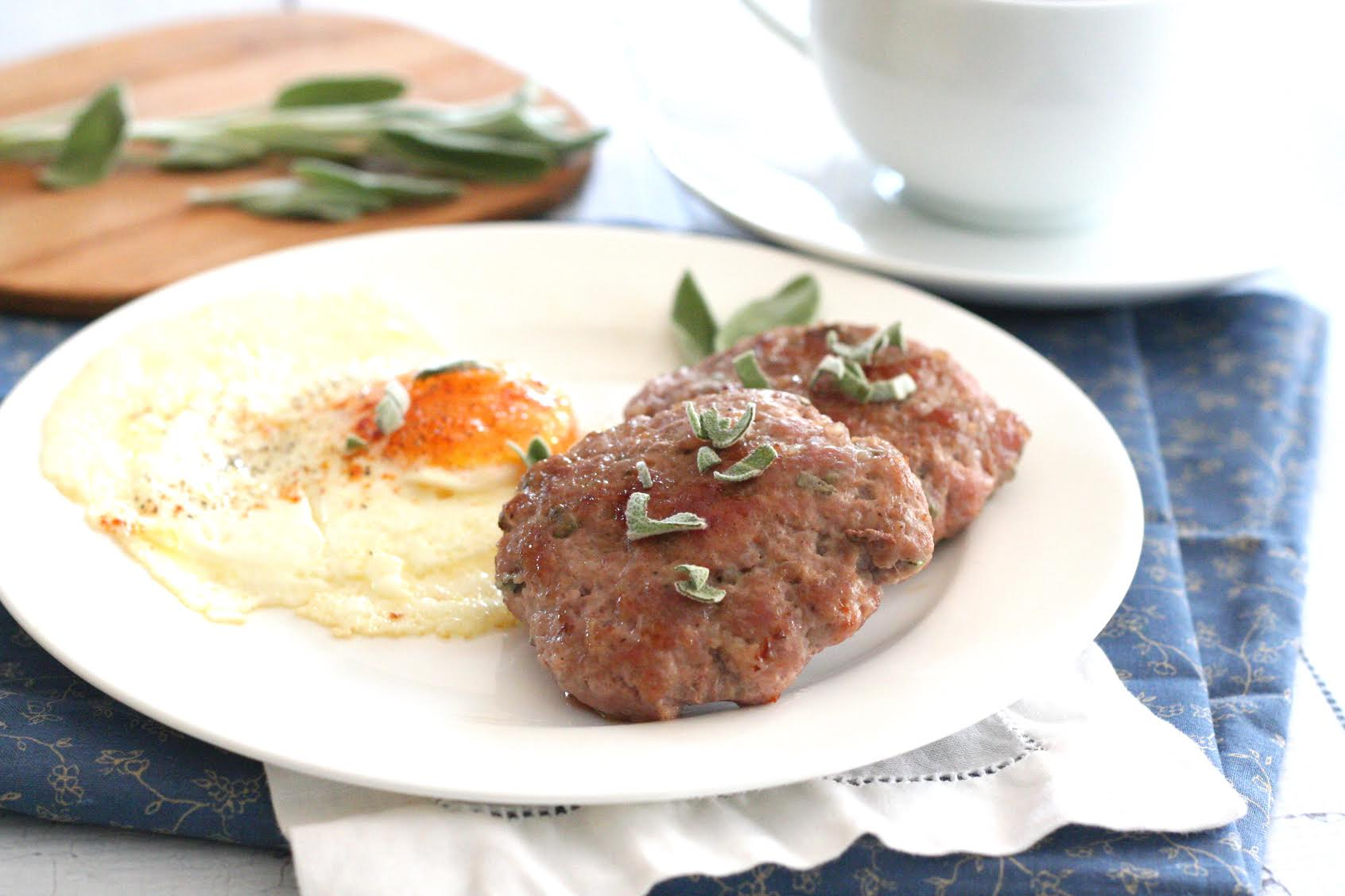 Maple Sage Breakfast Sausage Patties