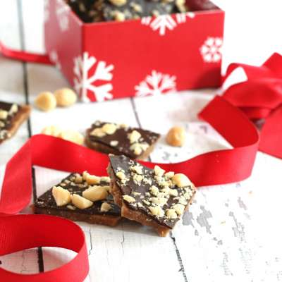 English Toffee with Macadamia Nuts