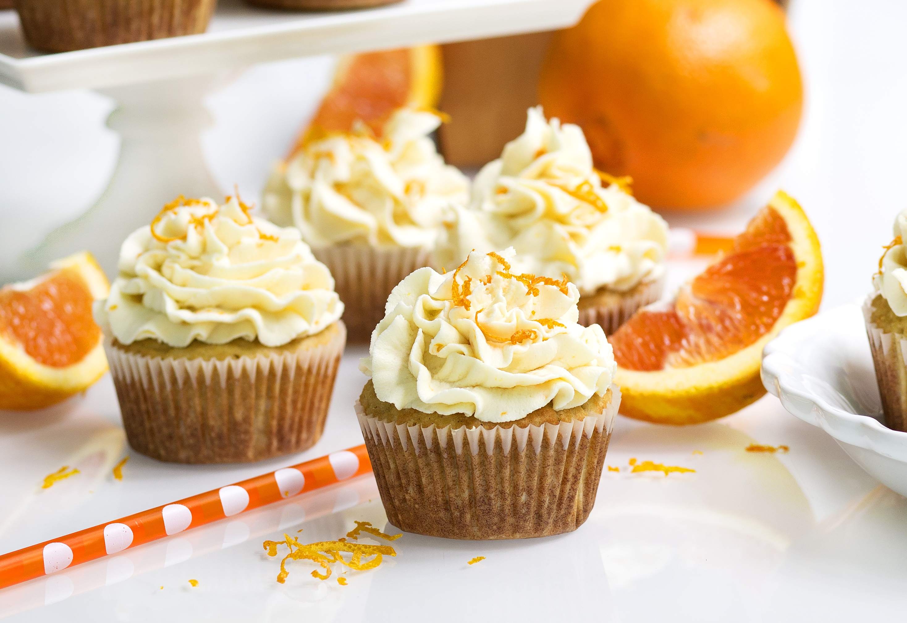 Gluten Free Orange Creamsicle Cupcake Feature