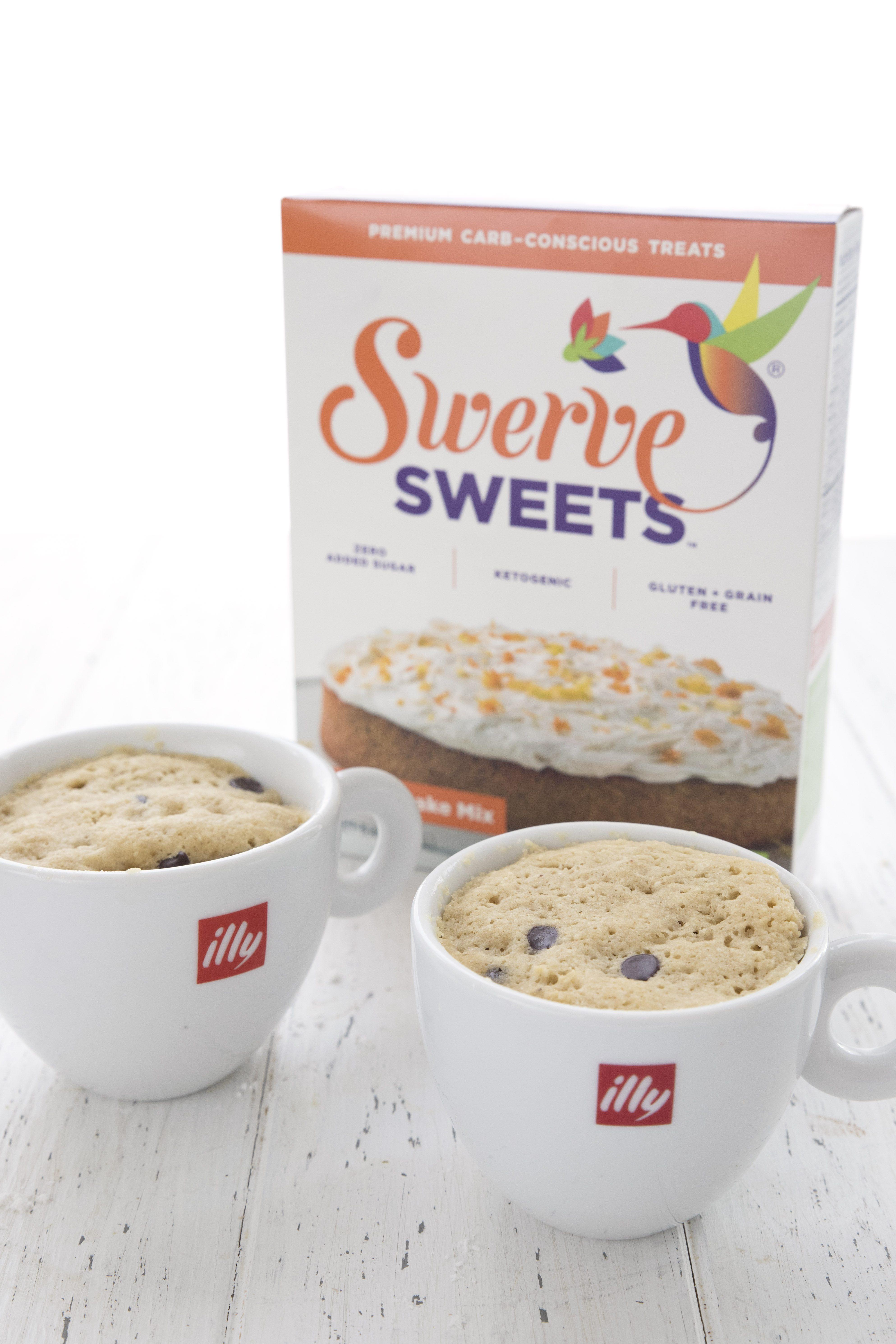 Chocolate Chip Mug Cake Recipe (GF)   Swerve