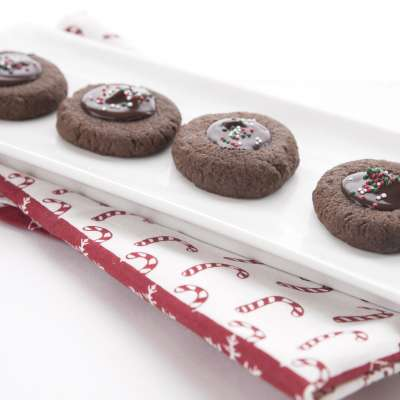 Chocolate Peppermint Thumbprints 2
