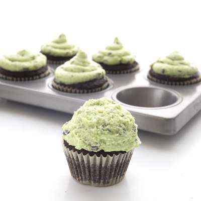 Mint Chocolate Chip Cupcakes 4