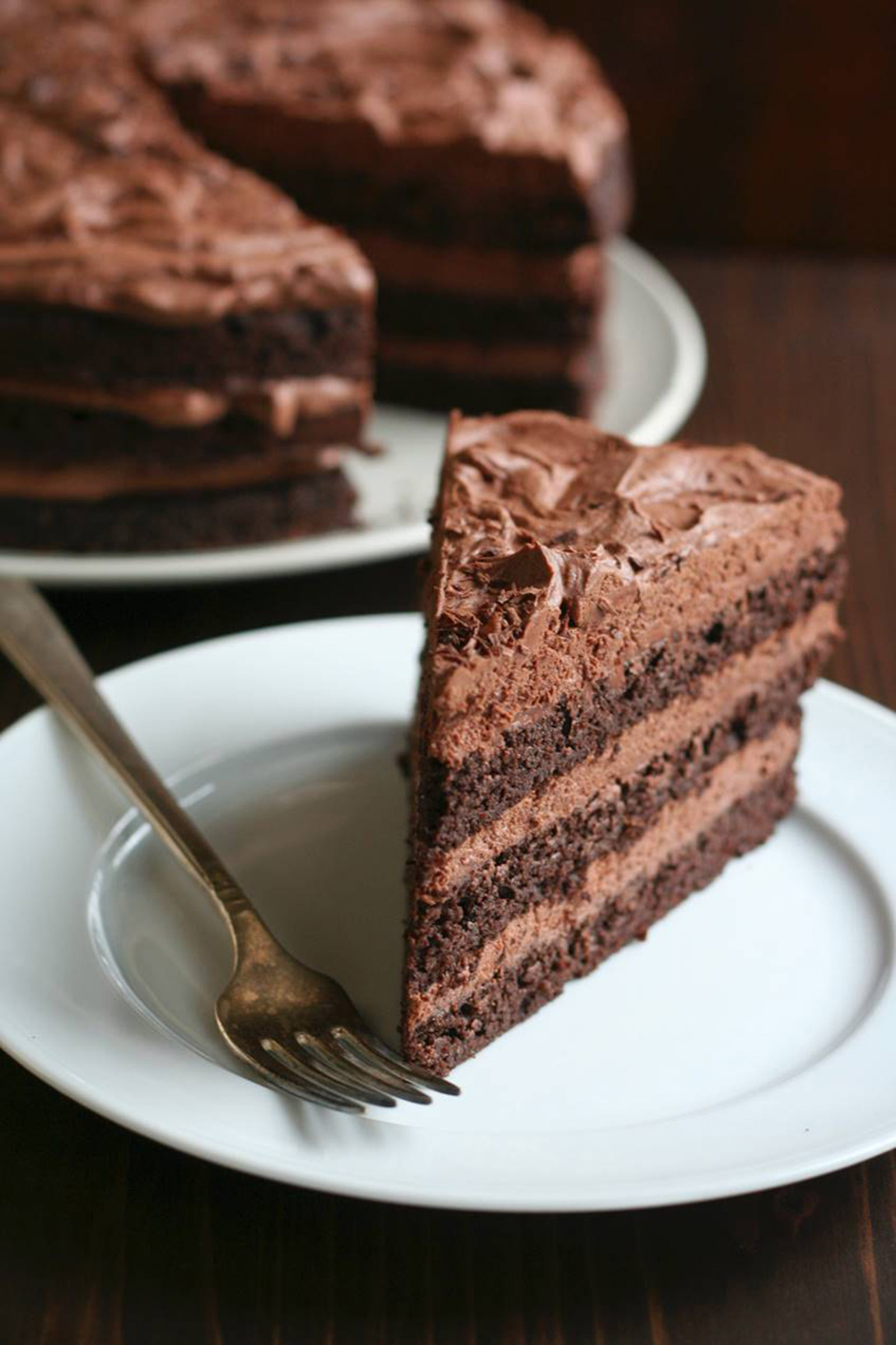 Chocolate Layer Cake with Ganache Frosting