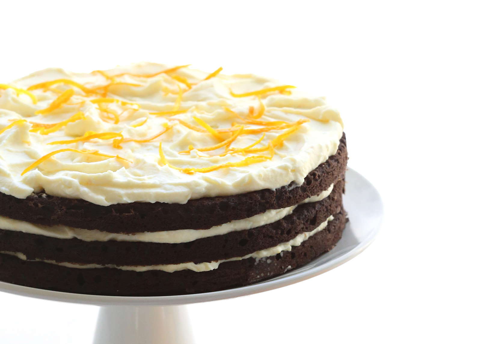 Chocolate Cake With Orange Mascarpone Frosting
