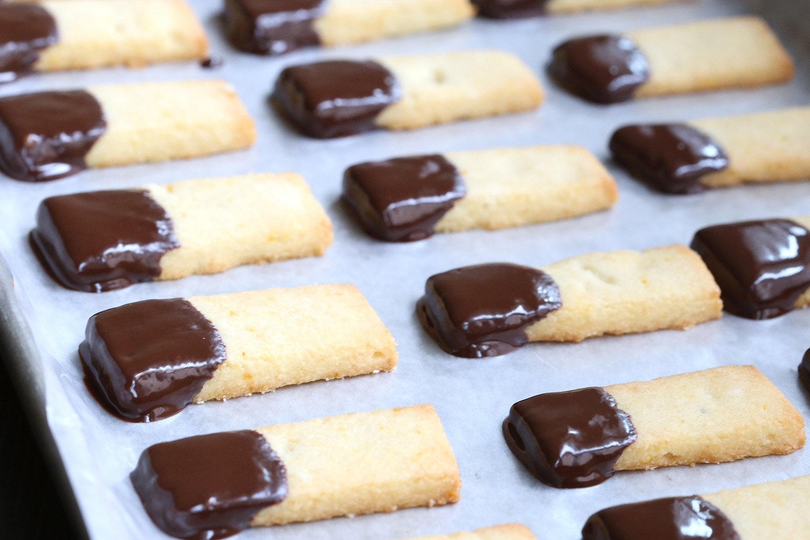 Chocolate Orange Shortbread Sticks