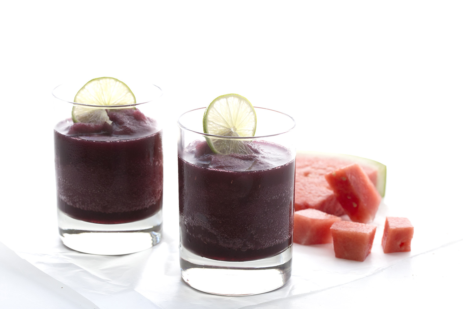 Watermelon Red Wine Slushies